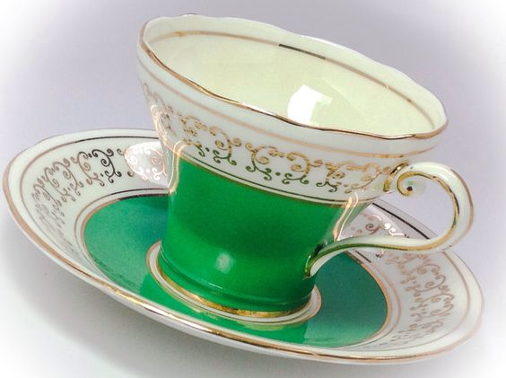 Vintage Aynsley Corset style tea cup and saucer by JoyJoeTreasures on Etsy https://www.etsy.com/listing/234554329/vintage-aynsley-corset-style-tea-cup-and