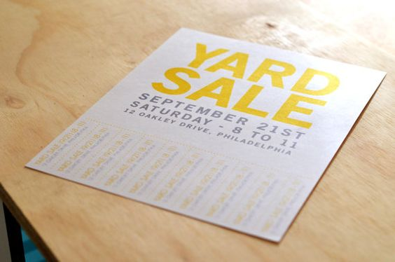 Yard Sale Flyer - Take One by PaperLoveHandmade on Etsy, $700 - car sale sign template