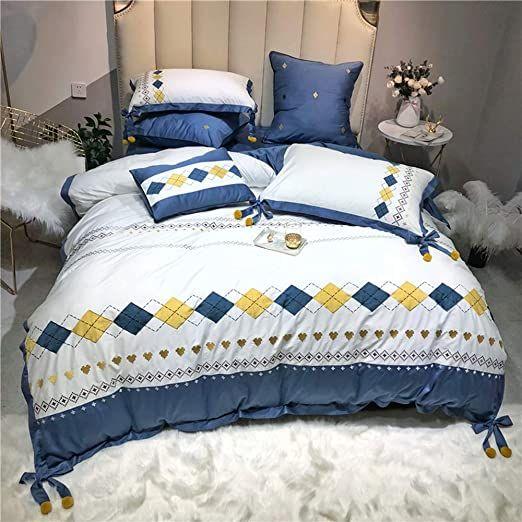 Ainy Nordic Bedding Sets Bohemia Duvet Cover Set Lightweight Microfiber Soft Quilt Cover 800 Thread Count Duvet Cover Sets Bedding Sets Sheets And Pillowcases