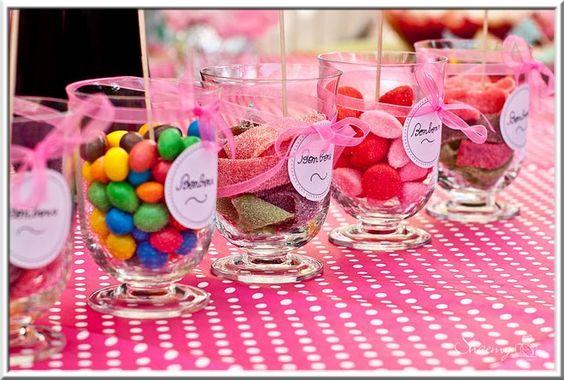 Mod le d co de table anniversaire b b bonbon tables - Deco table anniversaire bebe 1 an ...