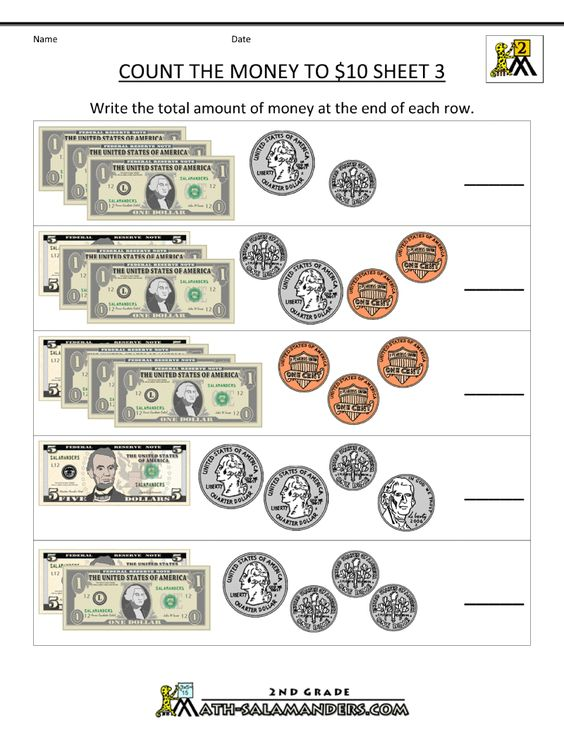 2nd Grade Math Worksheets Money | free counting money worksheets ...
