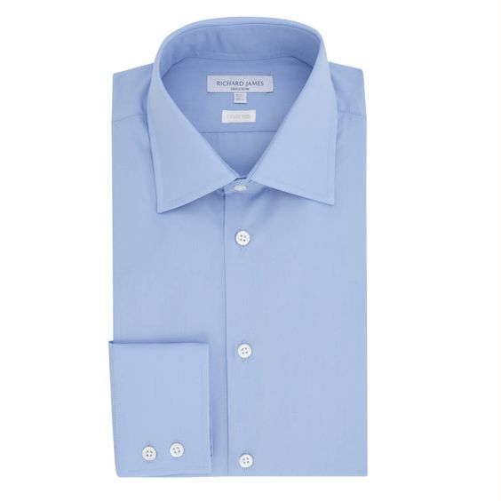 Richard James - Blue Cotton Poplin Shirt £125