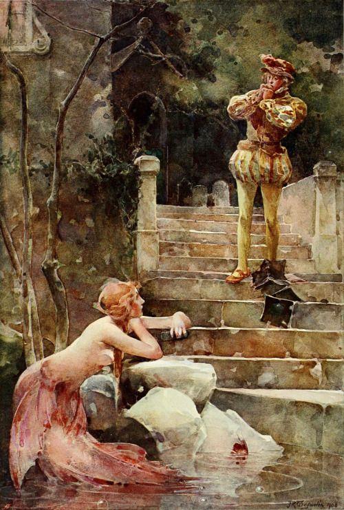 John Reinhard Weguelin, The Mermaid of Zennor, (1900)