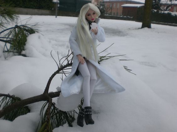 Lilith in the snow....