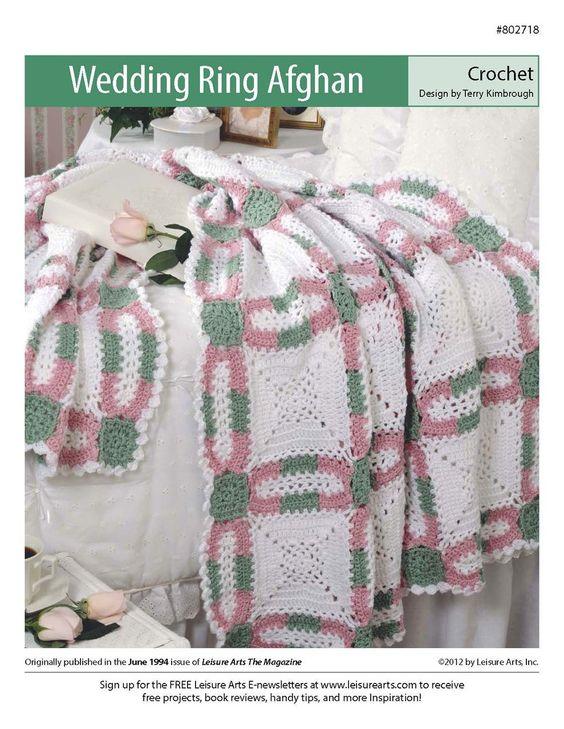 Free Crochet Wedding Ring Quilt Pattern : Wedding Ring Afghan Wedding, Wedding ring and Double wedding