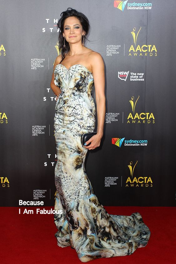 Fabulously Spotted: Nicole da Silva Wearing Leah da Gloria - 3rd Annual AACTA Awards  - http://www.becauseiamfabulous.com/2014/01/nicole-da-silva-wearing-leah-da-gloria-3rd-annual-aacta-awards/