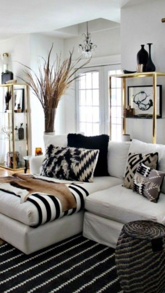 Love this room by nate berkus design ideas pinterest - White and gold room decor ...