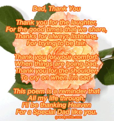 I Love You Dad Poems From Daughter | Simple Fathers Day ...