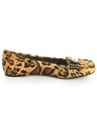 Amazon.com: Material Girl Women's Penny Loafer Flats in Leopard Print: Shoes