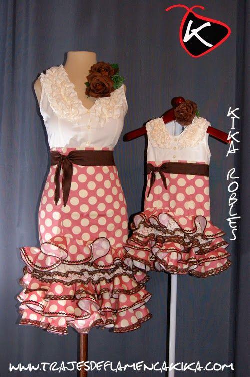 TRAJES DE FLAMENCA KIKA: Añadido nuevo modelo falda y camisa madre y traje niña