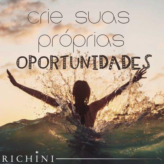 Crie suas próprias oportunidades! #quotes #inspiration #inspire #morning: