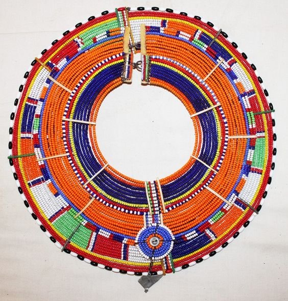 African Maasai Masai Beaded Ethnic Tribal Collar Necklace Jewelry Kenya $314.99