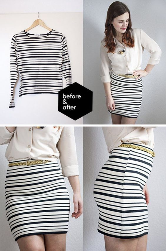Simple and Cute DIY Skirt Ideas and Tutorial by DIY Ready at http://diyready.com/diy-clothes-pants-skirts-for-women/: