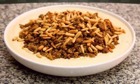 طريقة حمص بطحينة مع لحمة طريقة Recipe Cooking Food Rice