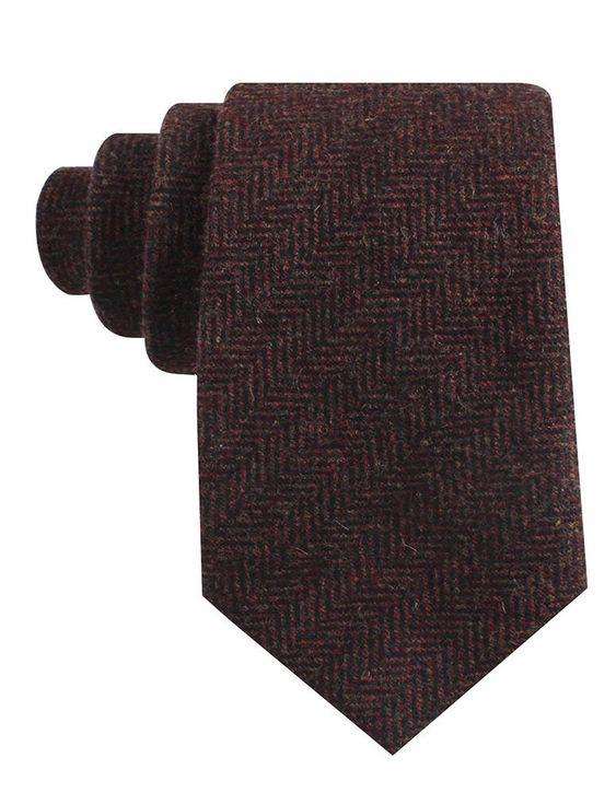 Men/'s Wool Ties Herringbone Tweed Classic Business Wedding Formal Wool Ties B5