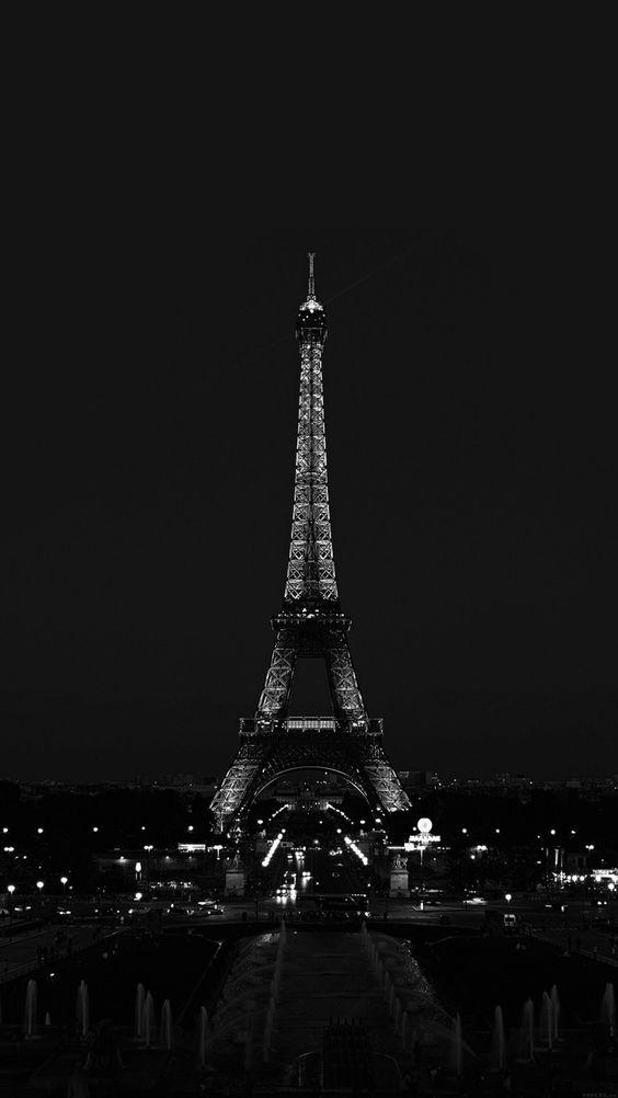 France Wallpaper Black And White