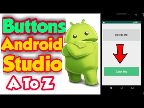 How To Create Button In Android Studio How To Change Button Background Text Color Android Studio Youtube Android Studio Create Button Studio