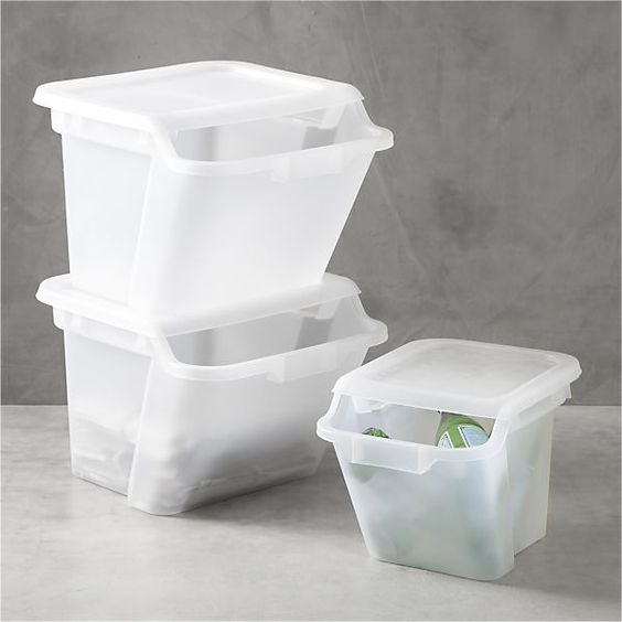 Recycling Utility Closet And Recycling Bins On Pinterest