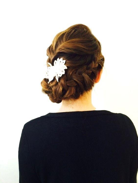 http://beauty.rakuten.co.jp/hs0206025/ 【編み込み アップ☆】 作り込みすぎないアレンジ♪ 結婚式のお呼ばれやパーティーなど、あなたの特別な日に…☆ 髪飾りで雰囲気も変えれます♪