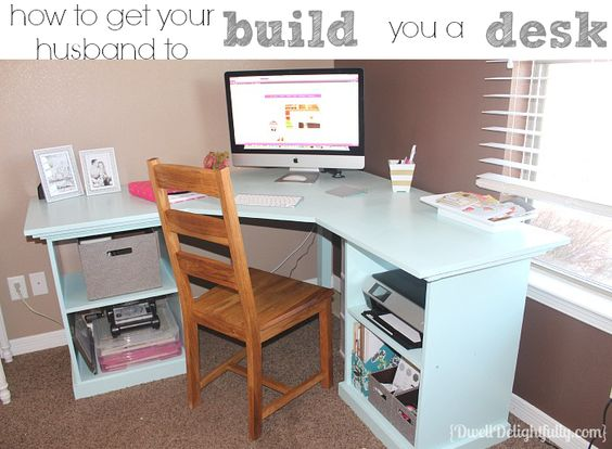 My New Handmade Desk! My husband and I made a desk together and i LOVE it!