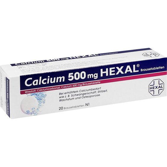 CALCIUM 500 HEXAL Brausetabletten:   Packungsinhalt: 20 St Brausetabletten PZN: 07383895 Hersteller: Hexal AG Preis: 2,57 EUR inkl. 19 %…