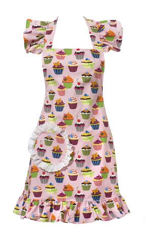 I love aprons and this vintage-inspired cupcake apron is just the sweetest. #cupcakeapron