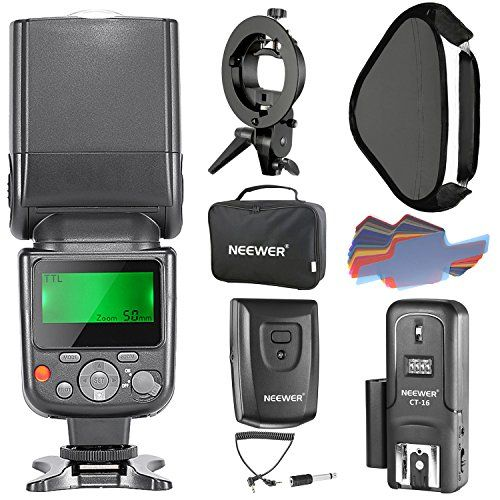Neewer NW-670 TTL Flash Speedlite with LCD Display for Canon  and Other Canon