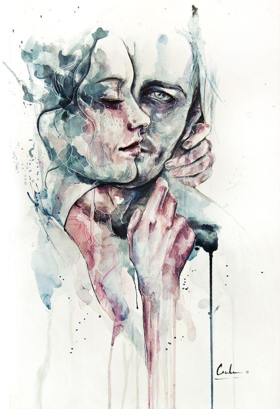As aquarelas da italiana Silvia Pelissero | GGN #Watercolour #Aquarela #Ilustração #Desenho: