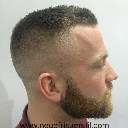 Army Stil Kurze Haare Und Kurzen Bart Militarhaarschnitte Haarschnitt Manner Haarschnitt