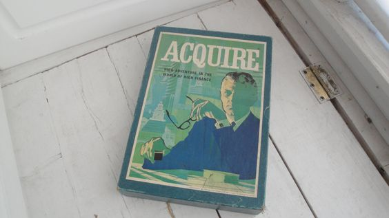 Vintage Acquire 3M Bookshelf Game Complete by CraftySara on Etsy