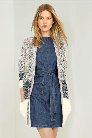 Koop Marineblauw/wit ombre vest vandaag online bij Next: Nederland
