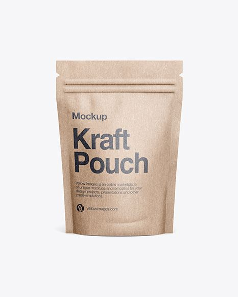 Download Kraft Stand Up Pouch Mockup Front View In Pouch Mockups On Yellow Images Object Mockups Free Psd Mockups Templates Mockup Free Psd Free Mockup