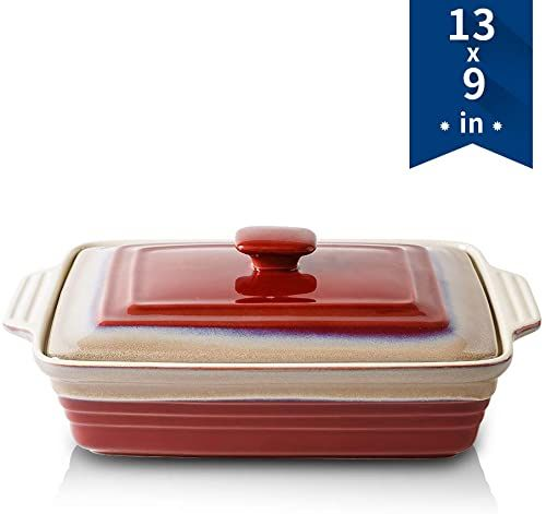 Amazing Offer On Koov Ceramic Casserole Dish Set Covered Casserole Dish Lid Rectangular Lasagna Pans Cooking Baking Dish With Lid Dinner Kitchen 9 X 13 In 2020 Baked Dishes Casserole Dish Set Casserole Dishes