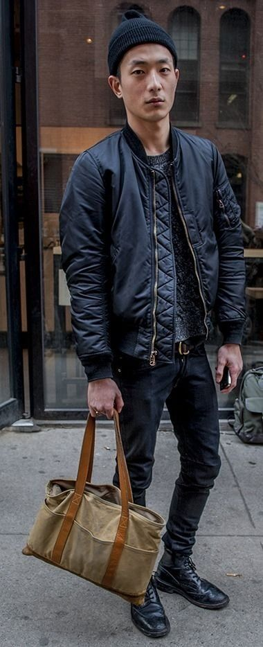 Bomber Style Jacket - Coat Nj