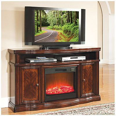 Big Lots 499 99 60 Quot Cherry Media Electric Fireplace With