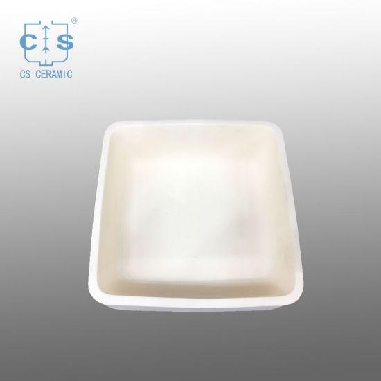 Square Alumina Ceramic Crucible High Temperature Resistance Square Alumina Ceramic Crucible Ceramics Ceramic Tray Crucible