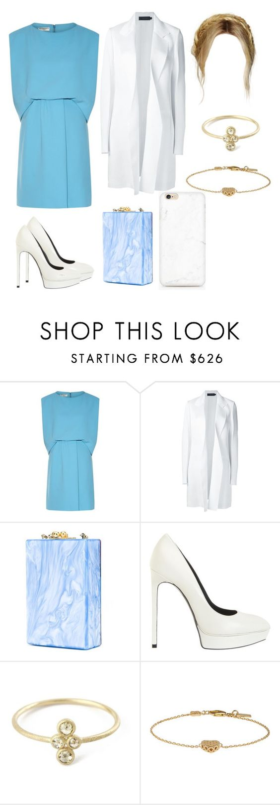 """""""Untitled #4420"""" by paula896 ❤ liked on Polyvore featuring Balenciaga, Calvin Klein Collection, Edie Parker, Yves Saint Laurent and Gucci"""