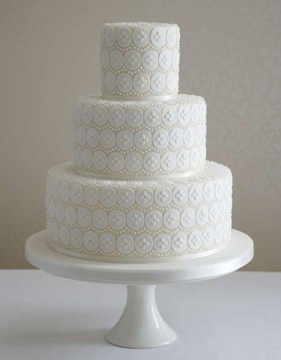 Torte nuziali bianche - Torta bianca originale