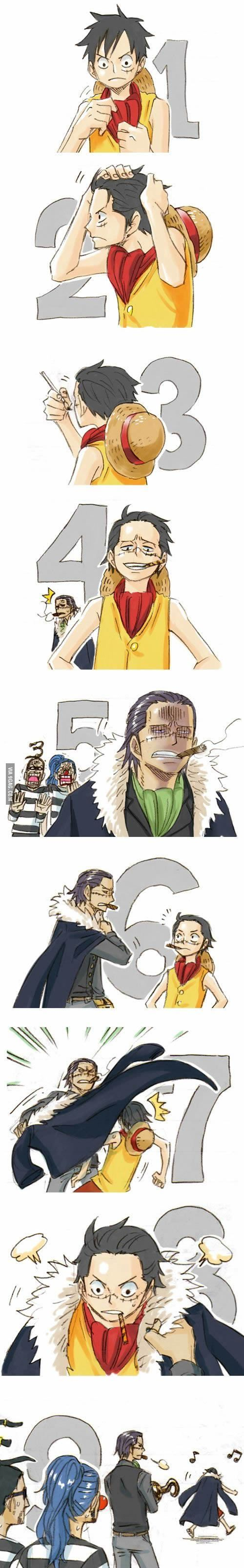 Cool Luffy: everyone comes over to luffys side eventually.. Just like Mihawk…