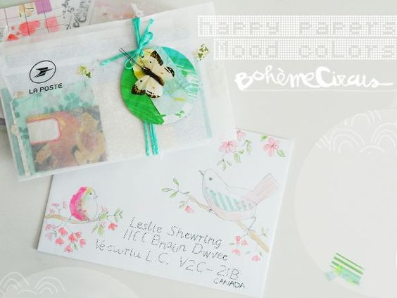 Bird envelope | Bohème Circus | Bloglovin'