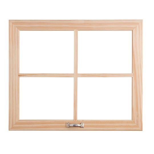 Darice Unfinished 4 Pane Craft Window With Handle Window Wall Decor Window Pane Decor Wood Windows