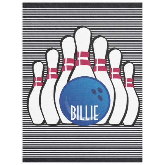 Bowling Design Fleece Blanket Zazzle Com Fleece Blanket Bowling Sports Themed Party