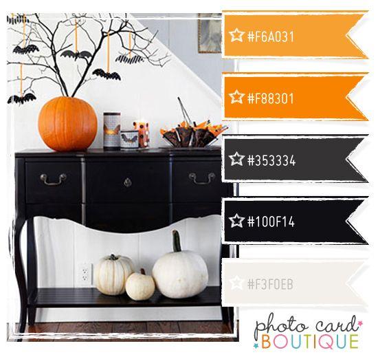 Cool Colors: Colors Palette, Colorpalette Photocardboutiqu, Design Color Palettes, Halloween Colors, Halloween Quilt, Photo Card, Colors Inspiration