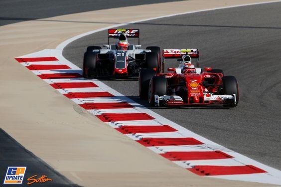 Kimi Räikkönen, Esteban Gutiérrez, Formule 1 Grand Prix van Bahrein 2016, Formule 1
