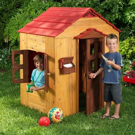KidKraft Outdoor Playhouse Dimensions: 51.5 inches long x 46.26 inches wide x 59 inches high $295