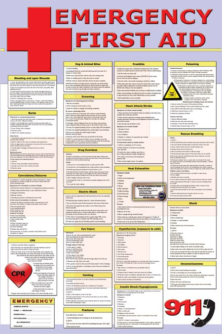 Decisive image in printable first aid guides