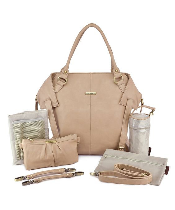 Another great find on #zulily! timi & leslie Light Brown Charlie Diaper Bag Set by timi & leslie #zulilyfinds