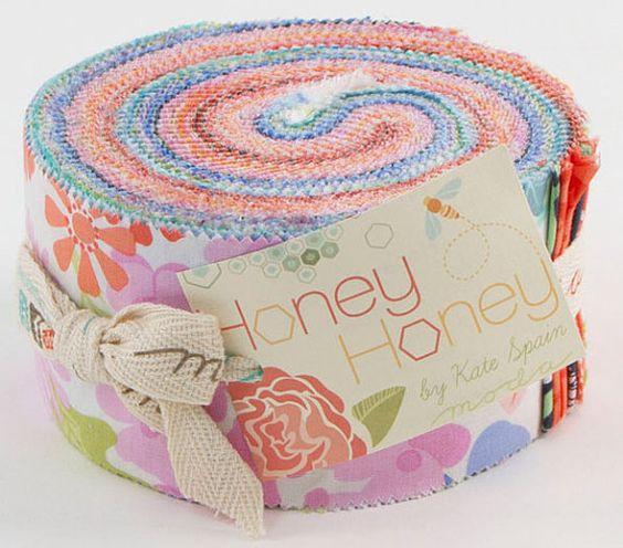 Kate Spain HONEY HONEY Jelly Roll from MoDa by BambiAndMeBoutique, $28.00