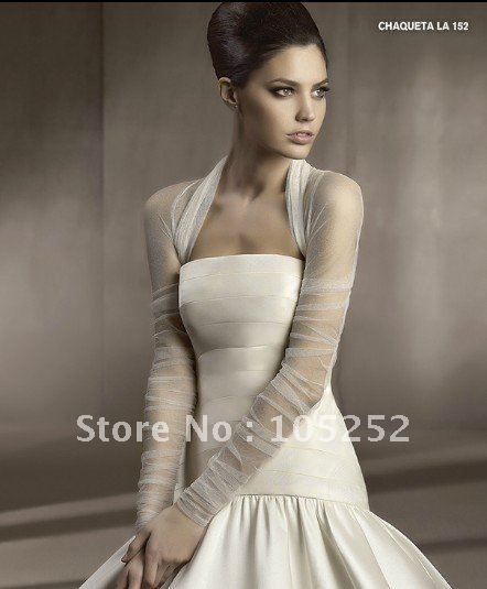 Cheap bolero jacket wedding, Buy Quality bolero jacket dress directly from China bolero jacket long sleeve Suppliers:   white silk organza custom wedding bolero jackets our lace jacket can be made in different color & different size.i