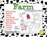 Farm Kindergarten Skills Pack product from TeachingMy3 on TeachersNotebook.com